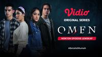 Nonton episode lengkap Vidio original series Omen. (credit: Vidio)