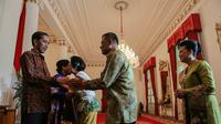 Presiden Jokowi menggelar halalbihalal di Istana Negara (Liputan6.com/ Faizal Fanani)