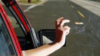 Pengendara mobil membuang putung rokok dari dalam mobil (Autoevolution)