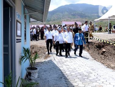 Jokowi Tinjau Pembangunan Hunian Tetap Korban Gempa Palu