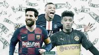 Kylian Mbappe, Lionel Messi, Jadon Sancho. (Bola.com/Dody Iryawan)
