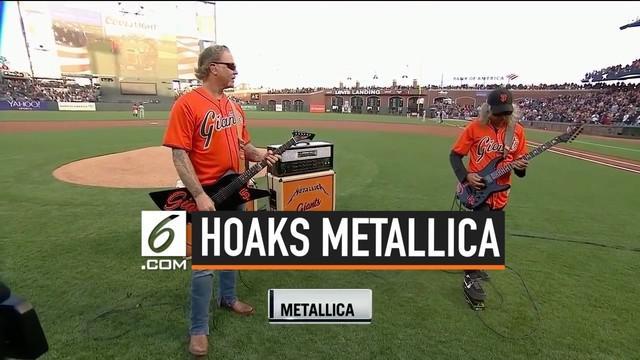 Kabar tentang band Metallica yang membawakan lagu Indonesia Raya, viral di media sosial. Kabar ini tersebar dalam sebuah video yang menampilkan Metallica yang tengah beraksi di sebuah stadion.