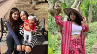 Tak kalah memesona dengan sang anak, ibunda Steffi Zamora punya paras cantik dan awet muda. (Sumber: Instagram/@sapna_husen)
