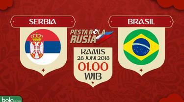 Jadwal Pertandingan Piala Dunia, Serbia Vs Brasil - Bola ...