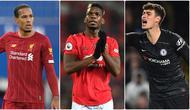 Paul Pogba menjadi pembelian termahal dalam sejarah Premier League hingga saat ini. Pemain asal Prancis ini didatangkan Manchester United pada 2016 dengan harga 105 juta euro. Berikut Paul Pogba dan 5 transfer pembelian termahal dalam sejarah Premier League. (kolase foto AFP)