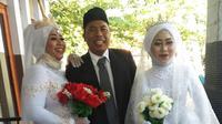 Samira bersama suami dan istri kedua suaminya (Sumber: Facebook/Samira)
