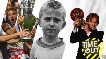 Berita video time out yang membahas tentang fakta menarik dari pemenang Ballon d'Or 2018, Luka Modric.