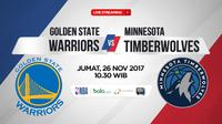 Golden State Warriors Vs Minnesota Timberwolves (Bola.com/Adreanus Titus)