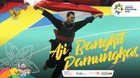 Garuda Kita Asian Games Aji Bangkit Pamungkas (Bola.com/Grafis: Adreanus Titus /Foto: Merdeka.com/Arie Basuki)