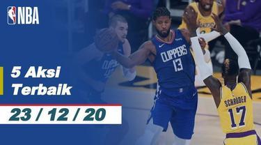Berita video NBA musim 2020/2021 telah dimulai dan dihadirkan 5 aksi terbaik yang terjadi pada hari ini, termasuk yang dilakukan Kevin Durant, Rabu (23/12/2020) pagi hari WIB.