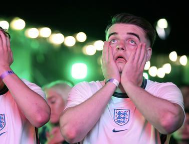 FOTO: Duka Suporter Inggris Kalah dari Italia di Final Euro 2020