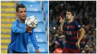 Cristiano Ronaldo dan Luis Suarez, bersaing meraih Sepatu Emas 2016