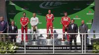 Pebalap Ferrari, Sebastian Vettel, berhasil menjuarai F1 GP Brasil di Sirkuit Autodromo Jose Carlos Pace, Minggu (12/11/2017) atau Senin (13/11/2017) dini hari WIB. (Twitter/@F1)