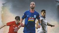 BRI Liga 1 - Ilustrasi Persita Tengarang - Marco Motta, Bruno Silva, Nick Kuipers (Bola.com/Adreanus Titus)