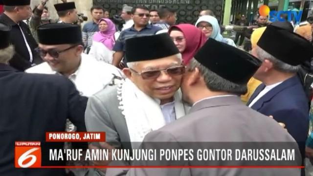 Ma'ruf Amin menilai, Ponpres Gontor adalah pondok pesantren yang banyak melahirkan tokoh-tokoh besar.
