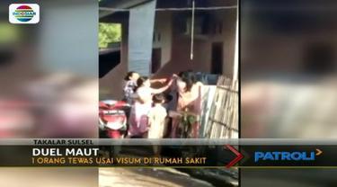 Terlibat perkelahian karena hal sepele, seorang ibu rumah tangga di Takalar, Sulawesi Selatan, meninggal dunia.