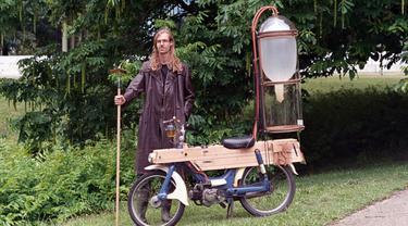 Sepeda motor berbahan bakar metana