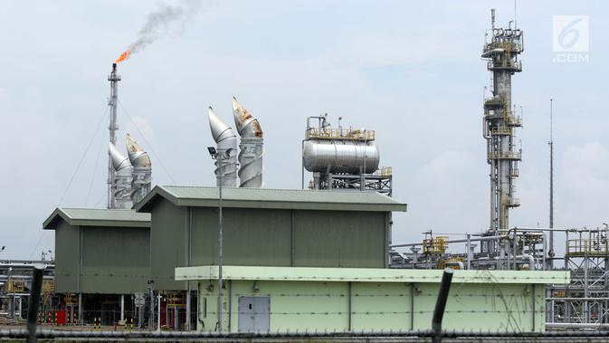 Suasana Sungai Kenawang Gas Plant di desa Kali Berau, Musi Banyuasin, Sumatera Selatan, Sabtu (9/2). Terhitung 10 Februari 2019 hingga 9 Februari 2039 Sungai Kenawang Gas Plant akan dioperasikan dengan skema gross split . (Liputan6.com/Helmi Fithriansyah)#source%3Dgooglier%2Ecom#https%3A%2F%2Fgooglier%2Ecom%2Fpage%2F%2F10000
