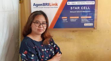 Lili Setiawan (45 tahun), salah satu Agen BRILink.