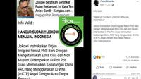 [Cek Fakta] Gambar Tangkapan Layar Berita Jokowi di Facebook