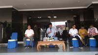 Konferensi pers kasus positif Corona Covid-19 ke-4 di Provinsi Kepulauan Riau. (Foto: Liputan6.com/Ajang Nurdin)
