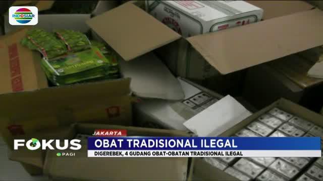 Jamu dan obat-obatan ilegal ini terdiri dari 127 jenis berbeda yang nilainya ditaksi mencapai Rp 15,7 miliar.