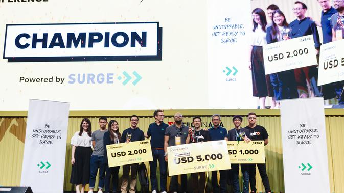 Startup Finalis Arena Pitch Battle di Tech in Asia 2019 Conference. Kredit: Tech in Asia