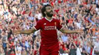 Performa gemilang pemain Liverpool, Mohamed Salah pada awal musim menjadikan dirinya menjadi pusat perhatian. Hingga pekan ketiga salah telah mencetak dua gol dan bersaing menjadi top scorer Premier League. (Peter Byrne/PA via AP)