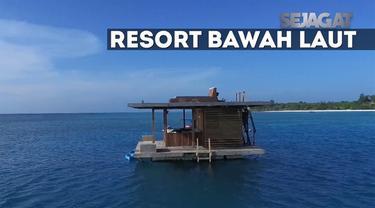 Manta Resort Pulau Pemba terletak empat meter di bawah permukaan