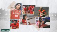 Kolase - Pemain PSM yang Berseragam Persija (Bola.com/Adreanus Titus)