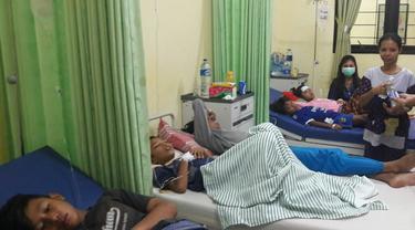 Korban keracunan keong sawah di Bogor (Liputan6.com/Achmad Sudarno)