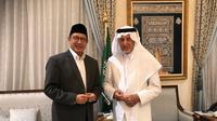 Menteri Agama (Menag), Lukman Hakim Saifuddin bertemu dengan Gubernur Makkah. Dok kemenag.