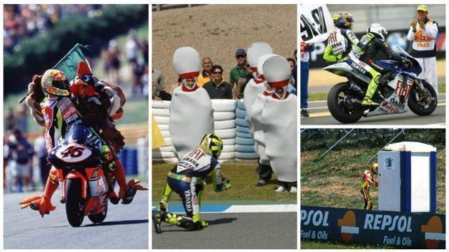 Video kumpulan selebrasi Valentino Rossi pebalap MotoGP legendaris asal Italia.