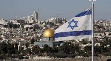 Ilustrasi Bendera Israel dan Yerusalem (AFP)