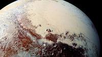 Visual tentang eksistensi bukit pasir di Pluto (NASA)