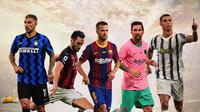5 Jagoan Free Kick: Aleksandar Kolarov, Hakan Calhanoglu, Miralem Pjanic, Lionel Messi, Cristiano Ronaldo (Bola.com/Adreanus Titus)
