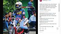 Pesilat yang Peluk Jokowi dan Prabowo Ternyata Hobi Balap Motor (Foto:Instagram)