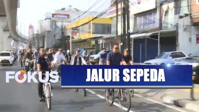 Uji coba dilakukan Gubernur DKI Jakarta bersama sejumlah artis dan warga Jakarta pecinta sepeda.