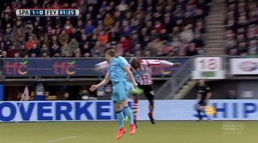 Mathias Pogba mencetak gol pada menit ke-1 dan memenangkan Sparta Rotterdam atas Feyenoord 1-0.