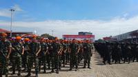 Apel gabungan TNI-Polri siap amankan Pemilu di DKI Jakarta.