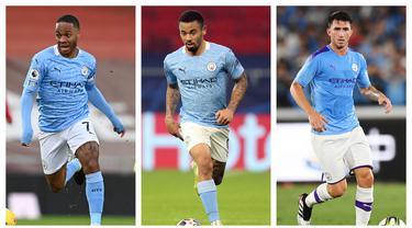 Skuat Manchester City tentu akan bersuka cita jika timnya mampu meraih tiga gelar musim ini. Namun tidak dengan 5 pemain berikut yang diprediksi justru akan hengkang akibat merasa terpinggirkan karena kalah bersaing dan tak sesuai dengan visi Pep Guardiola. (Kolase Foto AFP)
