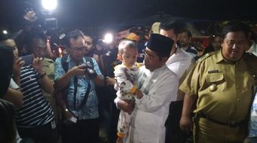 Mensos Idrus Marham menyambangi korban kebakaran di Jakarta