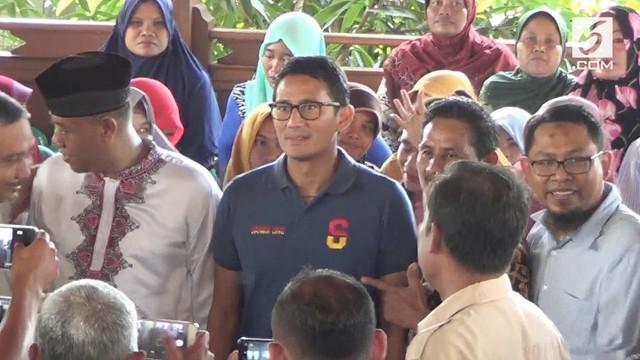 Bawaslu Blora akan memberikan teguran pada Tim Kampanye Prabowo-Sandi karena terdapat anak-anak saat kunjungan Sandiaga Uno.