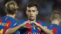 Munir El Haddadi akhirnya dipinjamkan ke Valencia sebagai alat barter transfer Paco Alcacer (JORGE GUERRERO / AFP)