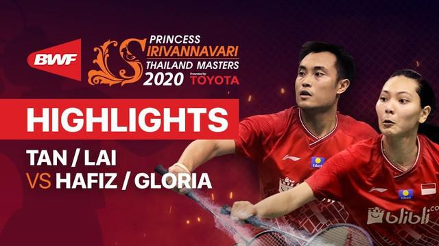 Berita video Hafiz Faizal/Gloria Emanuelle Widjaja yang lolos ke babak final Thailand Masters 2020, setelah mendepak pasangan Malaysia, Tan Kian Meng/Lai Pei Jing.