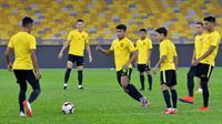 Timnas Malaysia dalam sesi pemusatan latihan. (Bola.com/Dok. FAM)