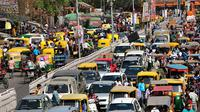 Ilustrasi kemacetan di India (iStock)