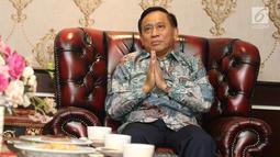 Direktur SCM yang juga Presiden Direktur Indosiar, Imam Sudjarwo menggelar silaturahmi dengan Kapolda Metro Jaya Irjen Gatot Eddy Pramono di Jakarta, Senin (15/7/2019). Pertemuan membahas diantaranya saling memberikan masukan dan peningkatan kerjasama keduabelah pihak. (Liputan6.com/Herman Zakharia)