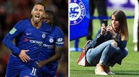 Bintang Chelsea, Eden Hazard dan sang istri, Natacha van Honacker (Istimewa)