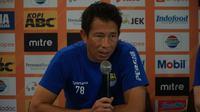 Penjaga gawang Persib Bandung I Made Wirawan termotivasi atas kekalahan melawan Tira Persikabo di Piala Presiden 2019. (Liputan6.com/Huyogo Simbolon)